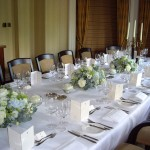 Petersham Hotel London Wedding Reception Table Flowers