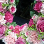 Close up detail of MUM Funeral Tribute Flowers London
