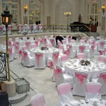 Palm Court Wedding Reception Flowers, Waldorf Hotel London