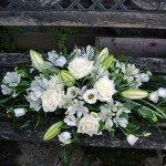 White Double Ended Funeral Spray Flowers London