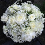 All White Wedding Hand Tied Bouquet Flowers London