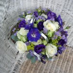Blue & Silver Hand Tied Wedding Bouquet Flowers London