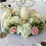 London Wedding Flowers Hurricane Table Centre