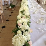 The Orangery, Kew Garden Wedding Reception Flowers