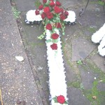 Red & White Cross Funeral Flowers London