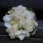 Small Calla & Rose Wedding Bouquet London