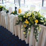 Wedding Reception Flowers at Holiday Inn in Brentford